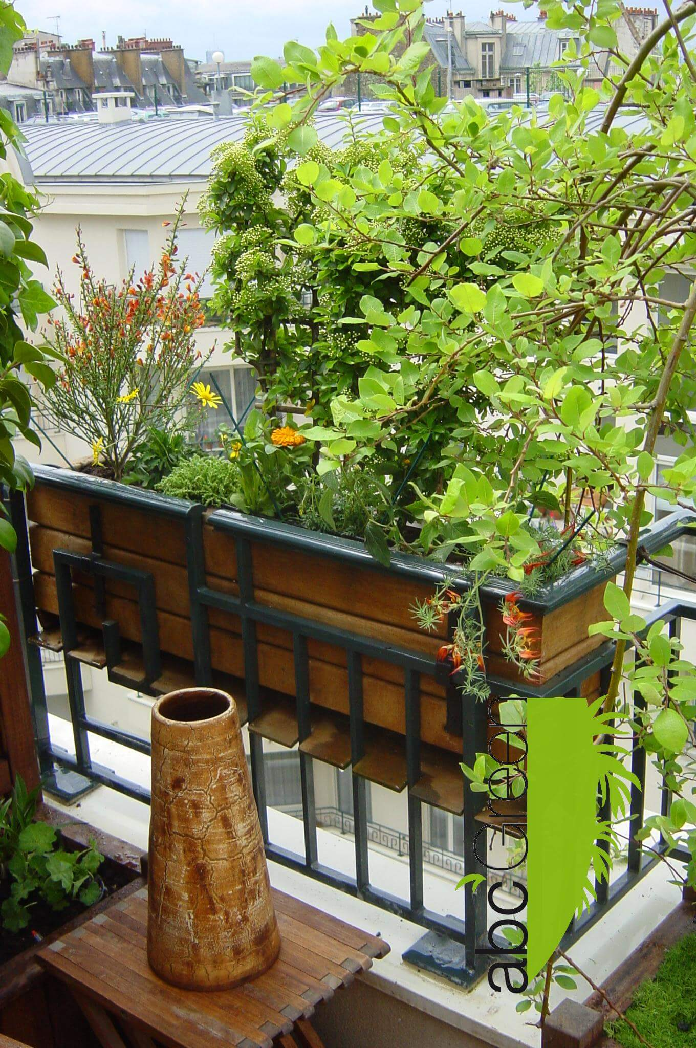 Terrasse et patio ombrag - Terrasse et jardin en ville montpellier ...