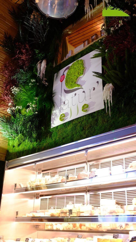 mur végétal espace commercial 34