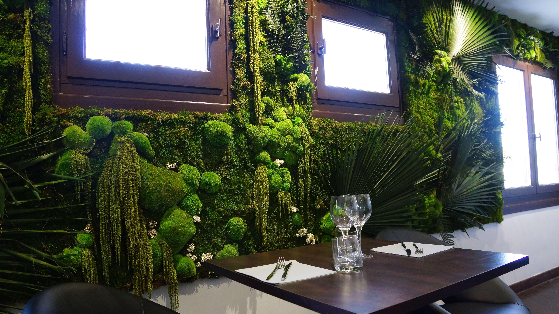 Mur végétal restaurant