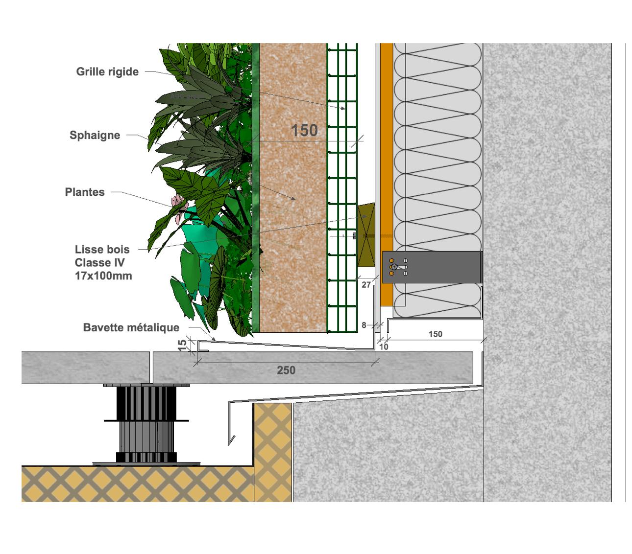 abc green coupe mur végétal extérieur